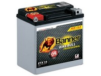 Motobaterie 12V 18Ah 310A BANNER AGM PRO ETX 20L 175x88x155mm
