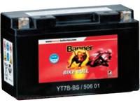Motobaterie 12V  8Ah 112A BANNER AGM + SLA, GT9B-4 150x69x105mm