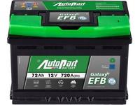 Autobaterie 12V  72Ah AUTOPART GALAXY EFB Start-Stop 720A 278x175x190mm