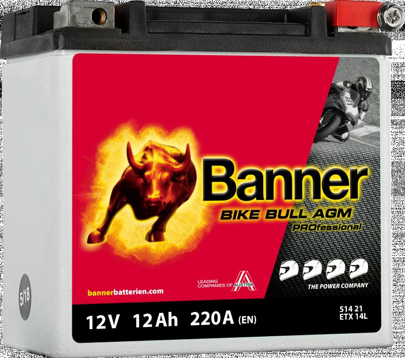 Motobaterie Banner Bike Bull AGM PROfessional